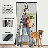 Fliegengitter Tür, Semai Magnet Insektenschutz Tür 110 x 220cm, Klebemontage Ohne Bohren, Vorhang Moskitonetz für Türen, Wohnzimmer