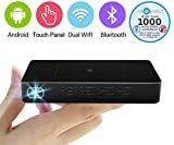 LiveTV.Direct Touch Panel Pico Projector Mini Android Smart Projector slim sans fil Portable Pocket Projector bulid en un Power Bank and LiveTV Services (32GB/HDMI IN)
