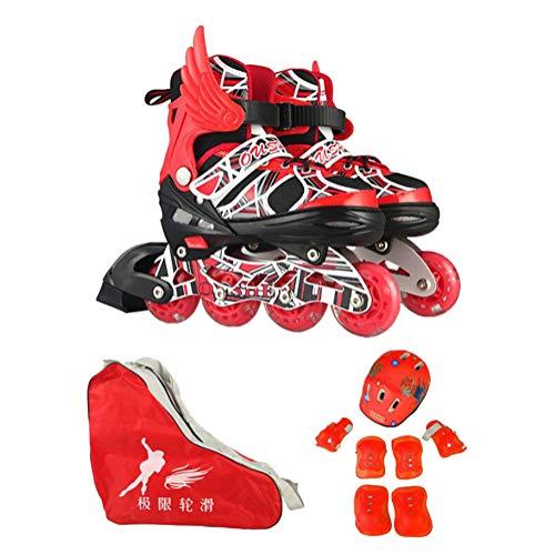 GUOCU Dynamic Wind - Patines en línea de Freestyle, Velocidad y Slalom,Rojo,M