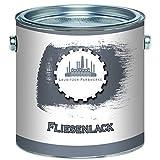 Lausitzer Farbwerke traditioneller 2-K Fliesenlack im SET für Fliesen inkl. Härter Fliesenlack GLÄNZEND Weiß Grau Schwarz ALLE RAL Töne 2-Komponenten Lack (2,5 kg, Weiß)