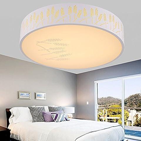 Modernes, minimalistisches Rundschreiben acryl Deckenleuchte, kreative Wohnzimmer Lampe, Schlafzimmer Lampe, Beleuchtung, goldene Weizen Feld YH-8130, Electrodeless Dimmen, 54 W