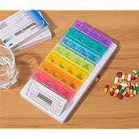 Dbtxwd Automatische Elektronische Pille Dispenser 7-Fach Alarm Timer Pill Box Veranstalter Halter Erinnerung,... preisvergleich bei billige-tabletten.eu