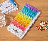 GFYWZ Dispenser 7 Scomparti Pillola Pillola, Timer Elettronico Di Allarme Timer Scatola Porta-Pillole Promemoria