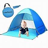 Tenda della spiaggia, LetsFunny divertente esterna portatile Sun Shelter 90% Protezione UV automatico Pop Up Ombrellone Ombra Canopy - Blue Tenda