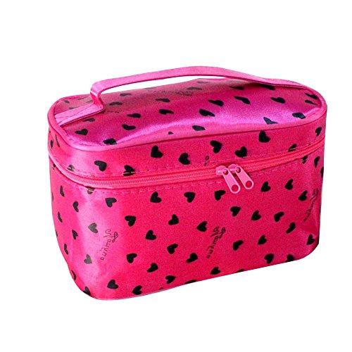 Make-up Taschen für Frauen Reise Portable Kosmetiktasche Große Foldingstorage Wasserdichte Waschbeutel rose red