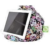 Bean Lazy iPad, eReader & Book Mini Sitzsack passt für alle Tablets und eReaders–Mexican Calavera Skull
