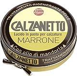 Calzanetto, Lucido per calzature in Scatoletta, in pasta dura, con cere pregiate, in salute e bellezza, colore Marrone, 50 ml