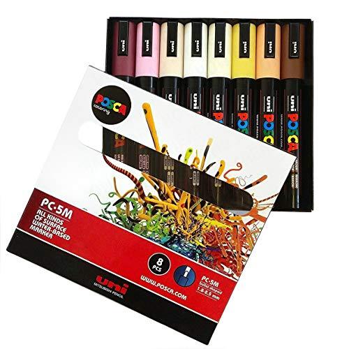(POSCA Farbgebung–pc-5m Haut Ton Set von 8–in Geschenkbox)