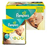 Couches Pampers - Taille 1 New Baby Premium Protection - 92 Couches Bébé