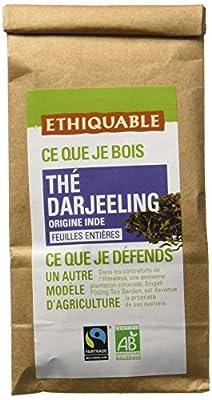Ethiquable Thé Darjeeling Inde Vrac Bio et Équitable 100 g Max Havelaar - Lot de 3