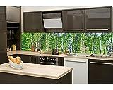 Küchenrückwand Folie selbstklebend BIRKENHAIN 260 x 60 cm | Klebefolie - Dekofolie - Spritzchutz für Küche | PREMIUM QUALITÄT