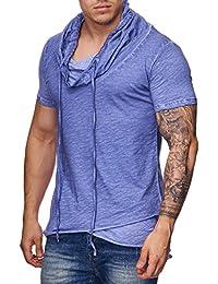 Red Bridge Herren T-Shirt Oversize Wide Collar Kragen Vintage Shirt