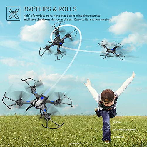 SNAPTAIN S5C Wifi FPV Drone with 720P HD Camera, Best Drone for Beginners  with Altitude Hold, Voice Control, Gravity Sensor, Trajectory Flight, 3D