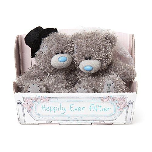 Braut und Bräutigam Tatty Teddy in Kutsche Box-Hochzeit Geschenk ()