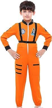 COSLAND Kids Boys' Astronaut Costume Long Sleeve Jumpsuit