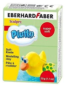 Eberhard Faber 571466-Super Soft plastilina pluffy, 32g, Color Verde Claro