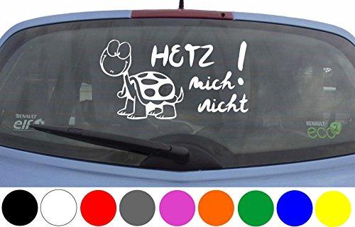 (wDesigns Autoaufkleber Hetz Mich Nicht! Schildkröte Aufkleber Auto Sticker Heckscheibe)