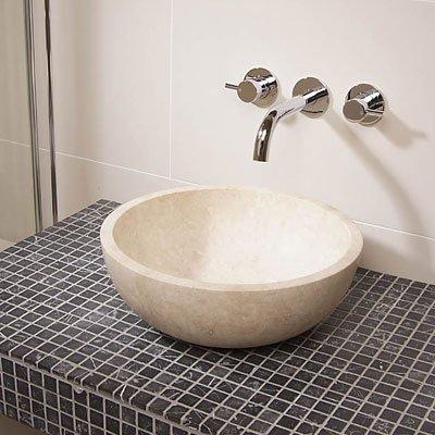 Countertop Sink Bathroom Basin Bowl Travertine Stone 5cm X 406cm Amazoncouk DIY Tools