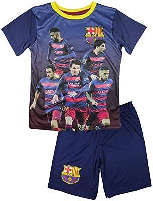 FC Barcelona–Conjunto de pantalones cortos y camiseta de fútbol FC Barcelona Oficial 2016infantil–4años, 6años, 8años, 5años, 7años, 9años