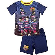 FC Barcelona–Conjunto de pantalones cortos y camiseta de fútbol FC Barcelona Oficial 2016infantil–4años, 6años, 8años, 5años, 7años, 9años, azul, 6 años