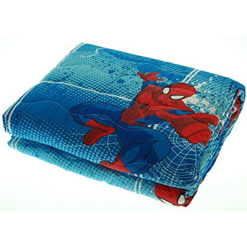 Trapuntino caleffi marvel spiderman copriletto trapuntato primaverile estivo 170x270 cm