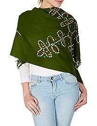 laine verte a volé les accessoires pour femmes cravate cadeaux de Noël de colorant pour la main de l'adolescence 24x70 pouces