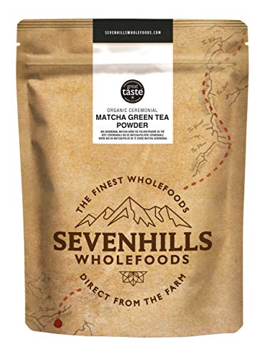 Sevenhills Wholefoods Organic Japanese Ceremonial Matcha Green Tea Powder 50g