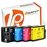 Bubprint 4 Druckerpatronen kompatibel für HP 932XL 933XL für Officejet 6100 e-Printer 6600 e-All-in-One 6700 Premium 7110 7510 7610 7612 Wide Format