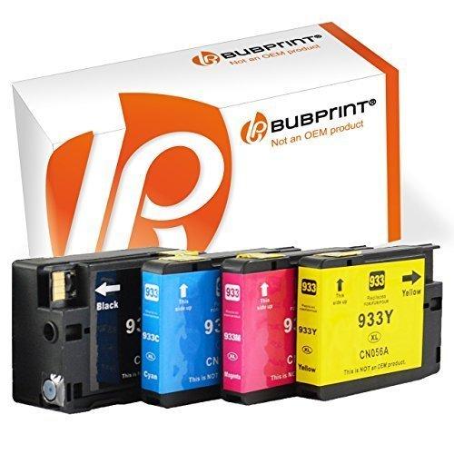Bubprint 4x Druckerpatronen kompatibel für HP 932 933 XL 932XL 933XL für OfficeJet 7612 7510 6100 eprinter 7610 6600 7600 6700 premium Patronen Tinte Multipack (932xl Hp Patronen Tinte 933)