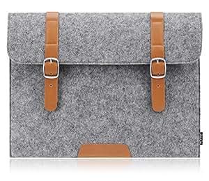 Plemo Filz Hülle Sleeve Tasche für 33-33,8 cm (13-13,3 Zoll) Laptop / Notebook Computer / MacBook / MacBook Pro / MacBook Air, Grau