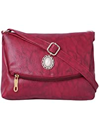 Speed X Fashion Women's Sling Bag Maroon AMZN4110 (BNS 0545ND)