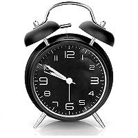 Aodoor Twin Bell Réveil, silencieuse Horloge avec rétroéclairage, Horloge, Alarme puissante à Piles