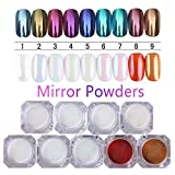 Born Pretty Spiegelpulver, 1g, Gold, Blau, Lila, für Maniküre, Nail Art, mit Glitter, Chrome-Pigmente