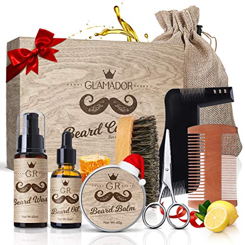 Kit Cuidado Barba 8pcs GLAMADOR - Aceite