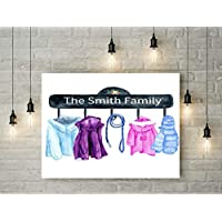 coat hooks pegs personalised family ART PRINT PICTURE a3 canvas picture gift ready to hang gift wedding new home