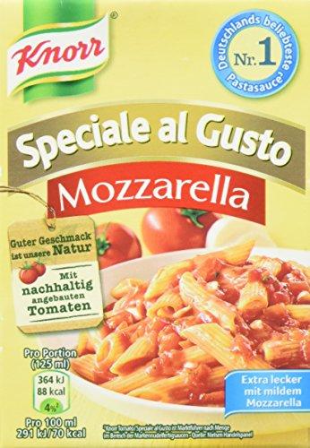Knorr Speciale al Gusto Mozzarella Soße, 8er-Pack (8 x 370 g)
