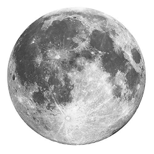 Kreative Runde Teppiche Mond Studie Wohnzimmer Couchtisch Matte Schlafzimmer Nachtteppich Wohnkultur Waschbar,160X160CM