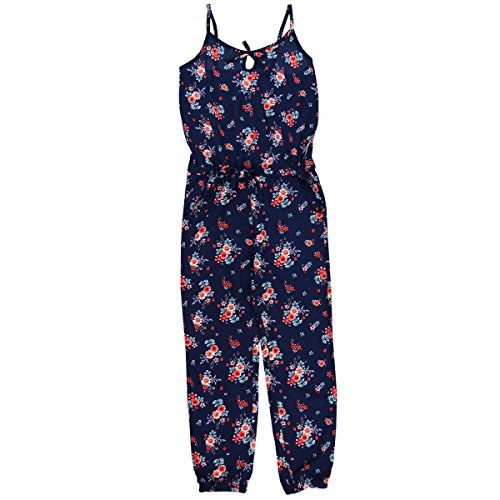 Boboli Mädchen Latzhosen Viscose Jumpsuit for Girl, Blau (Print 9450), 110 (Herstellergröße: 5)