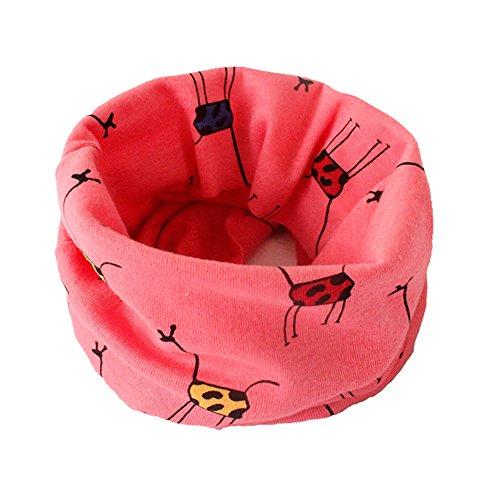 fablcrew Kid 's calentador bufanda suave pañuelo de patrón de animal Multi uso para bebés con bufanda Loop rojo rosso Talla:40*20cm