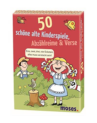 moses. 50 schöne alte Kinderspiele, Abzählreime & Verse | Kinderbeschäftigung | Kartenset (Karte Der Vers)