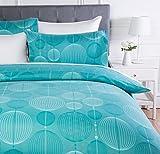 AmazonBasics - Juego de ropa de cama con funda de edredón, de microfibra, 200 x 200 cm, Cerceta industrial (Industrial Teal)