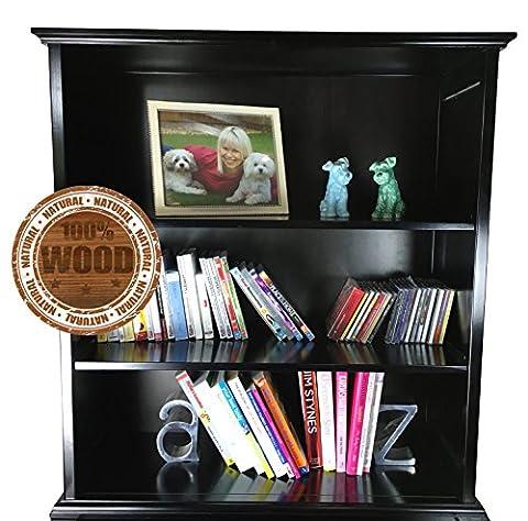 Quirky Bubba Solid Wood Bookshelf + Childrens Kids Book Shelf + Easily Assembled (Espresso)