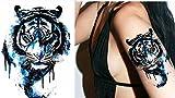 Tiger blau Tattoo TH-196 ausdrucksvolles Tattoo