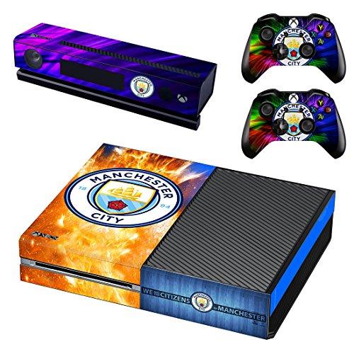 Manchester City Xbox One Skin Sticker Vinyl Aufkleber Schutzfolie zum Konsole & 2 Controller - Xbox One Controller-manchester