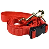 #6: HUFT Adjustable Dog Leash for Small, Medium and Large Dogs and Puppies - Red