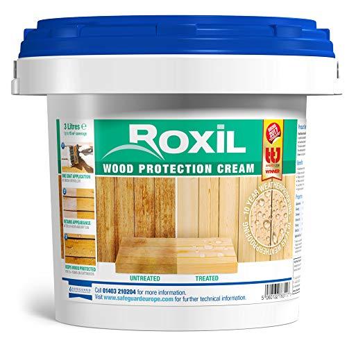roxil madera protección crema-10año impermeabilización para madera blanda láminas-3litros