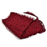 GeKLok tennis badminton net, rete regolabile pieghevole multifunzionale Premium badminton rete da pallavolo, adatto per Family Entertainment, wine red