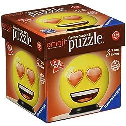 Ravensburger 11921–Puzzle en 3D de Emoji