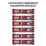 Rilevo- 6 Confezioni Singole di Barrette Spezzafame- 3 ore Senza Fame Barretta Naturale con Semi,Cereali ricoperte di cioccolato fondente (6x30 gr)