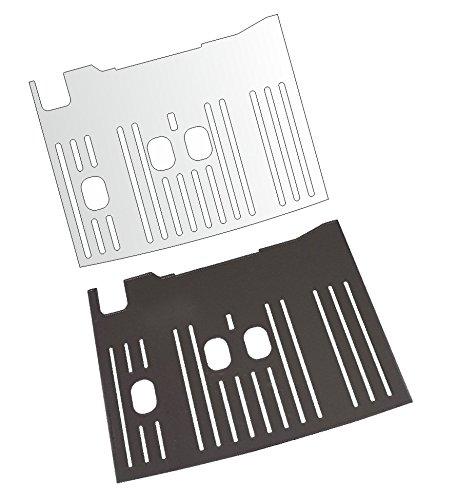 3 x Schutzfolie für DeLonghi Dinamica Plus 370.85 SB - 370.95 T - 370.95 S Abtropfblech - Tassenablage - Abstellblech
